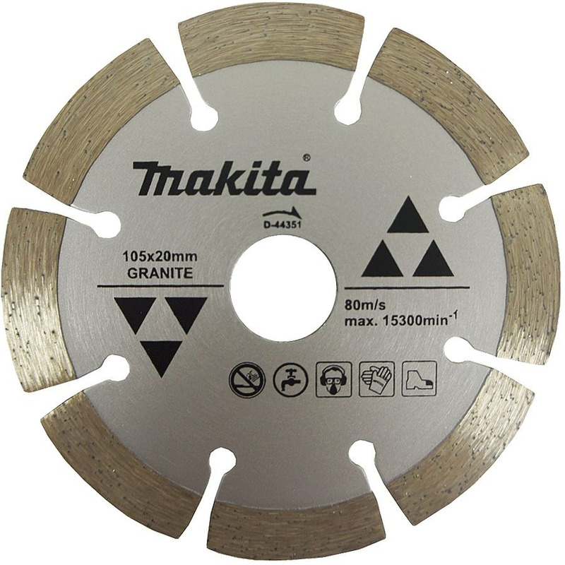 Disco Diamantado Corte a Seco 105mm (Mármore e Granito) - D-44351 - Makita