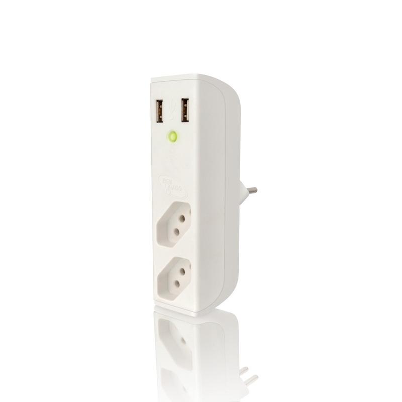 CARREGADOR USB COM FILTRO SEM HUB ENERMAX BEMLIGADO 25.02.113 BRANCO