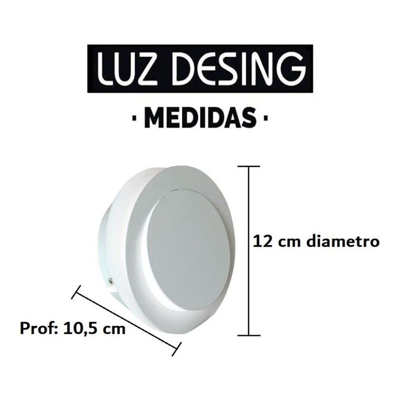 Aplique Circular Pared Luz Led 3w Aluminio Deco Moderno Tz