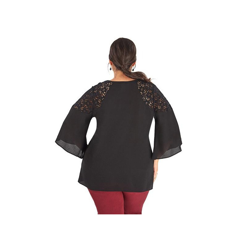 Vestido largo negro 014358P