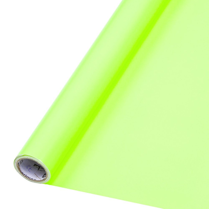 Vinil adesivo colormax fluorescente  amarelo larg. 1,0 m
