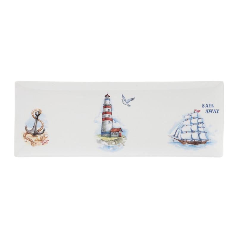 Prato barco Porcelana 35,5X12,8X1,2Cm - 31017054