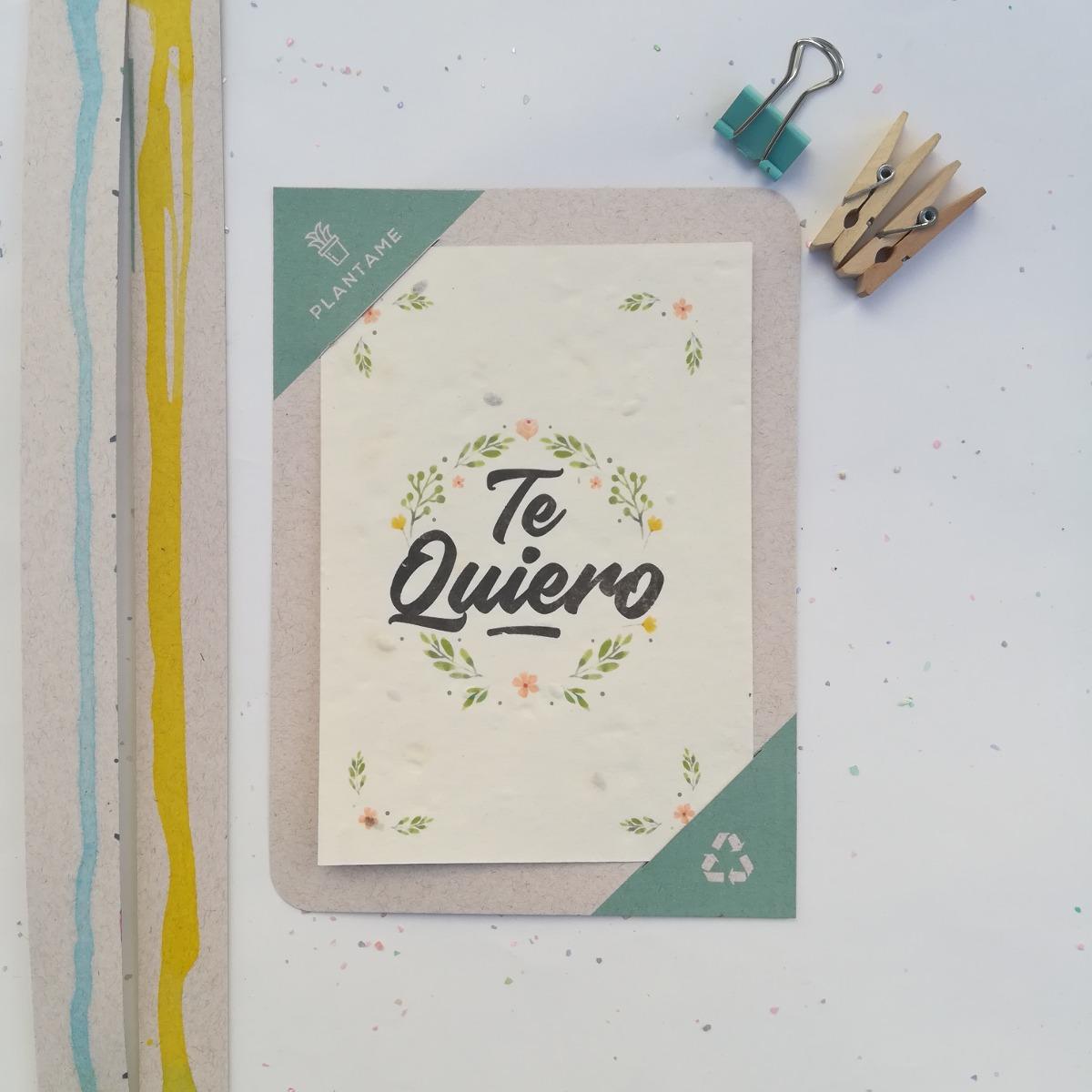 25 Postales Plantables  - papel reciclado con semillas