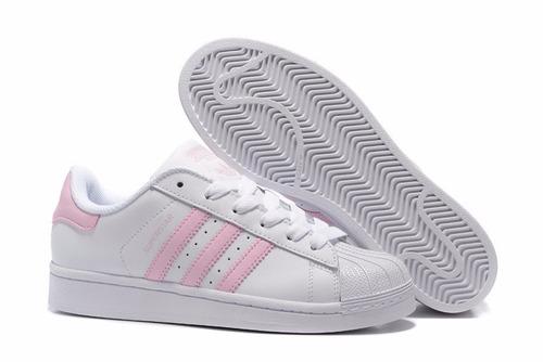 adidas superstar blancos con rosa