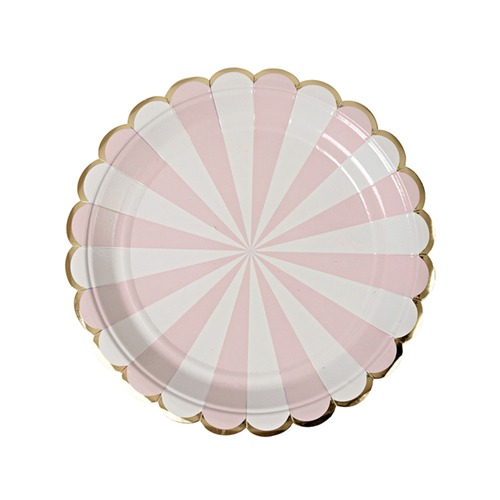 Platos Stripe rosa Chico
