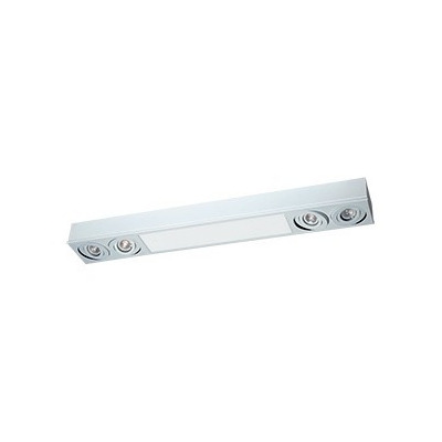 Plafon 10015 4 Luces Dicroled + Modulo Plaqueta Led 12w