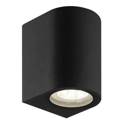Unidireccional Aluminio Negro Curvo Apto Led Gu10 K1201n Mks