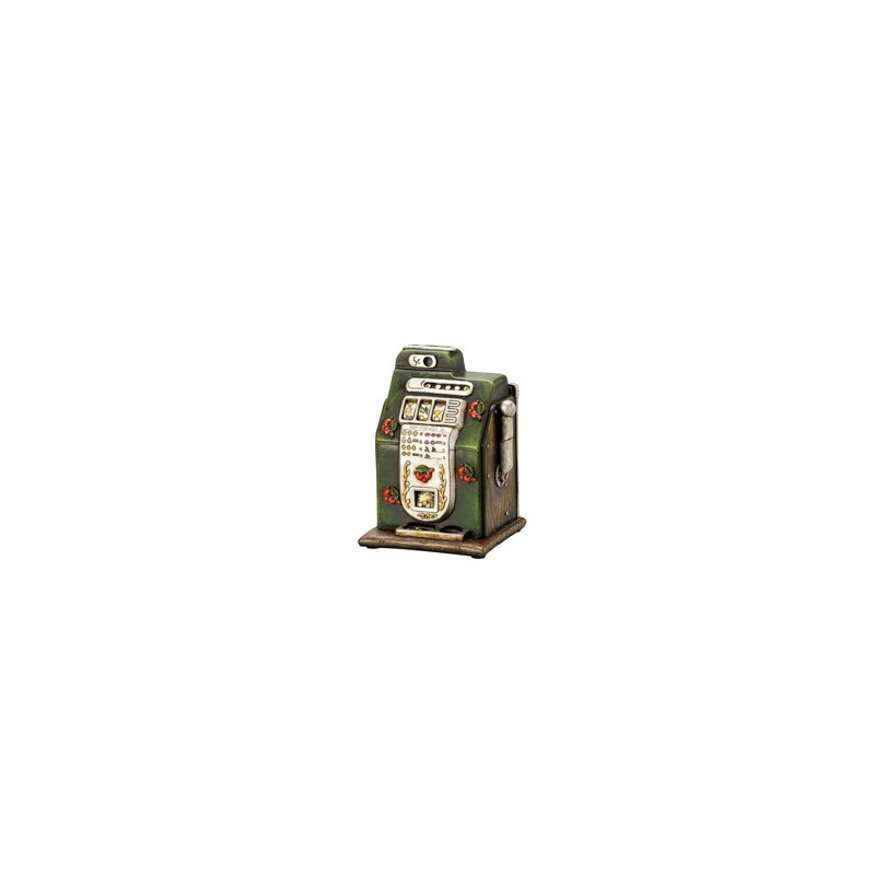 Cofre Em Forma de Caca Niquel Vintage 14,5Cm 4103197