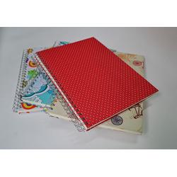 Cuaderno A4  espiralado - entelado