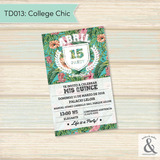 Invitación digital TD013 (College Chic)