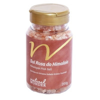 Sal Rosa do Himalaia Grosso Pote 200g - Natural Wonder