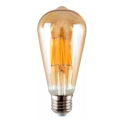 Lampara Filamento Ambar Led 7w Vintage St64 Luz Desing