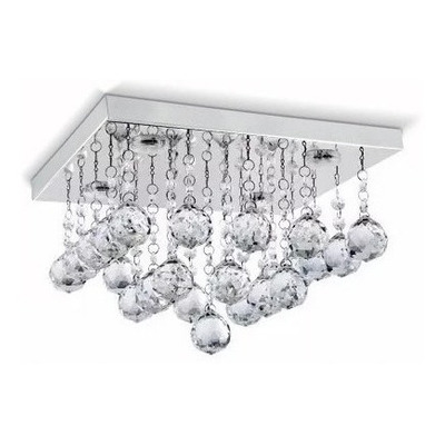 Lampara Plafon Colgante Lluvia Cristal 6 Luces Led Pal Sf
