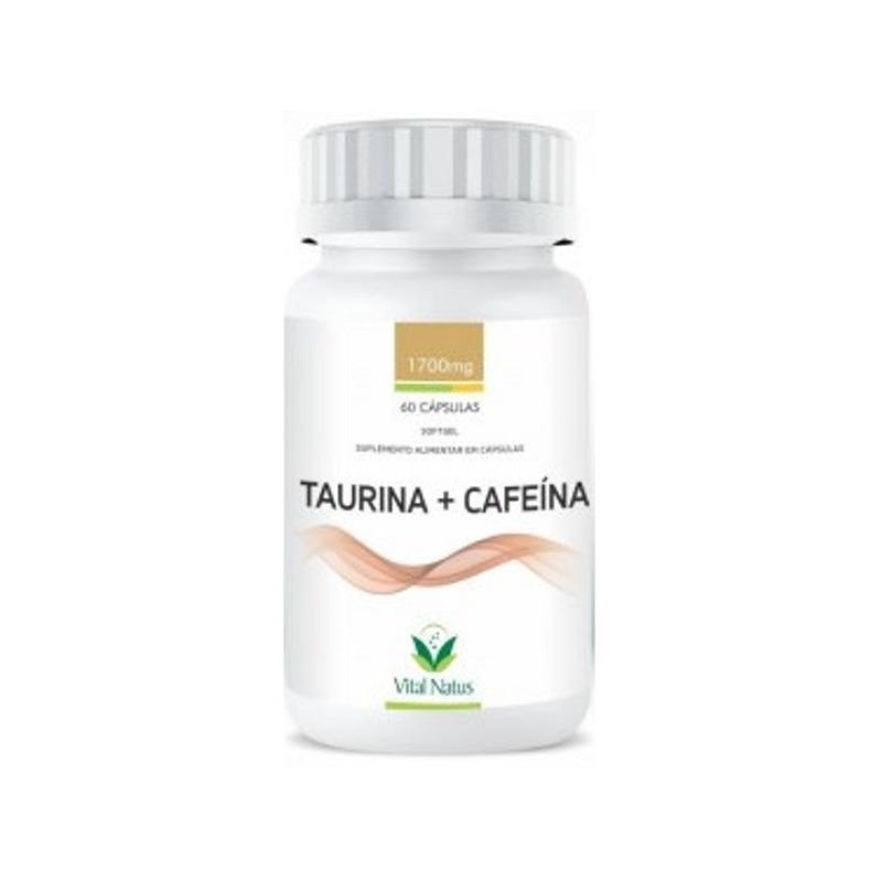 Taurina e Cafeina em Softgel - 1700mg - 60Caps - Vital Natus