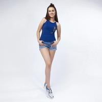 Blusa Azul Con Detalle De Pedreria 019529