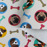 Tecido corino cachorrinhos puppy - Larg. 1,40 m