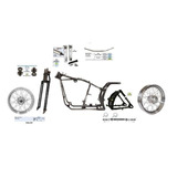 Kit Custom Bobber Quadro Softail Springer Rodas Raiadas