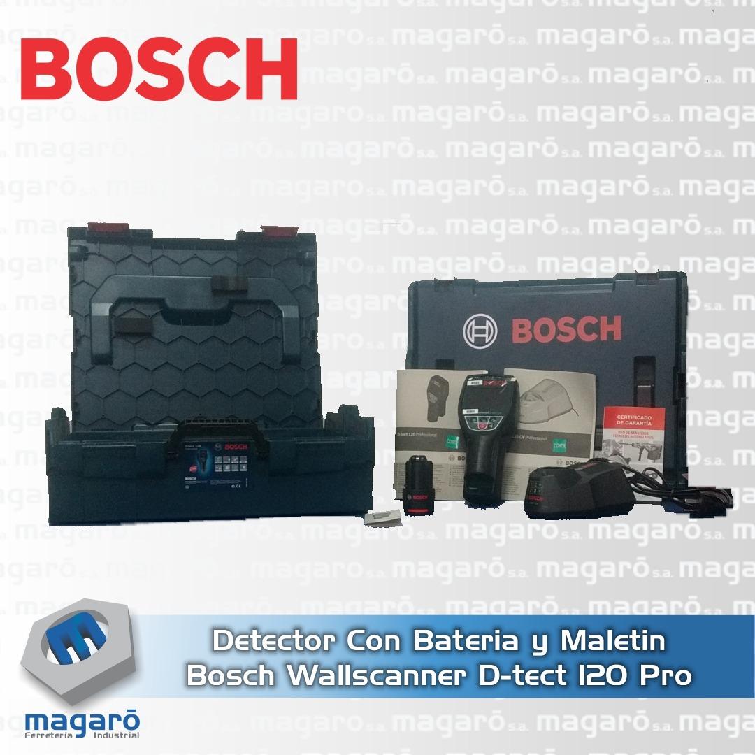 Detector Bosch Wallscanner D-tect 120 Pro CON BATERIA