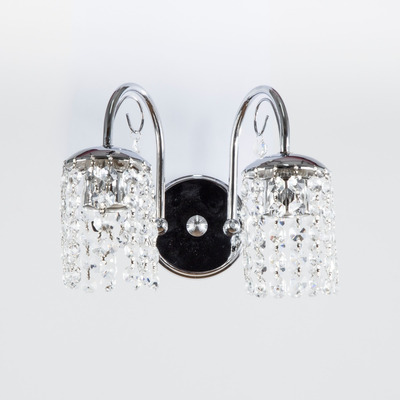 Aplique Lyon 2 Luces Cairel Deco Cristal Cromo Apto Led
