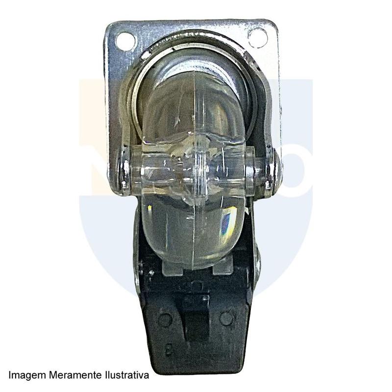 Rodizio Silicone 50mm - 661.71.401 - Hafele - Com Freio