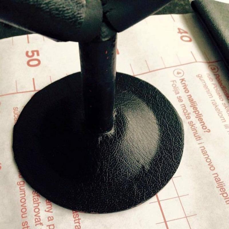 Adesivo para parede  couro preto petro - Larg. 0,90 m