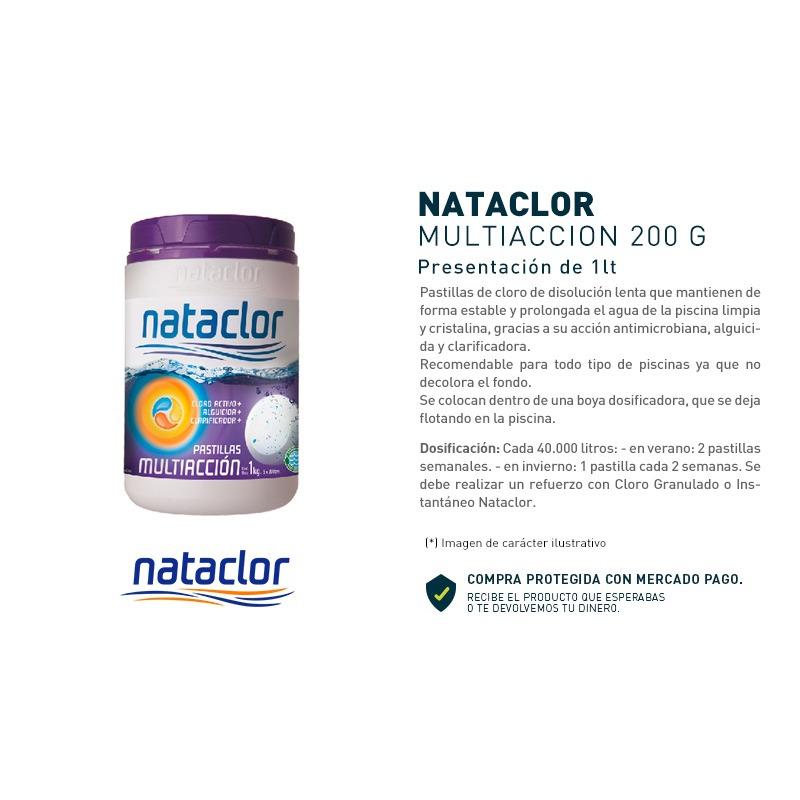 Pastillas De Cloro Multiacción Nataclor 1 Kg  OGUS
