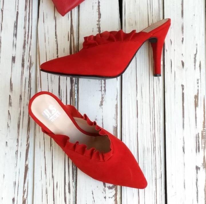 Zueco 832  Gamuza Rojo