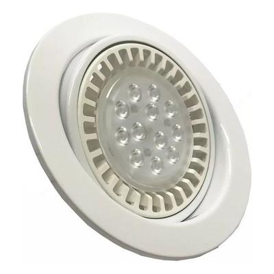 Spot Embutir Redondo Blanco Ar111 Led 15w Completo Oferta