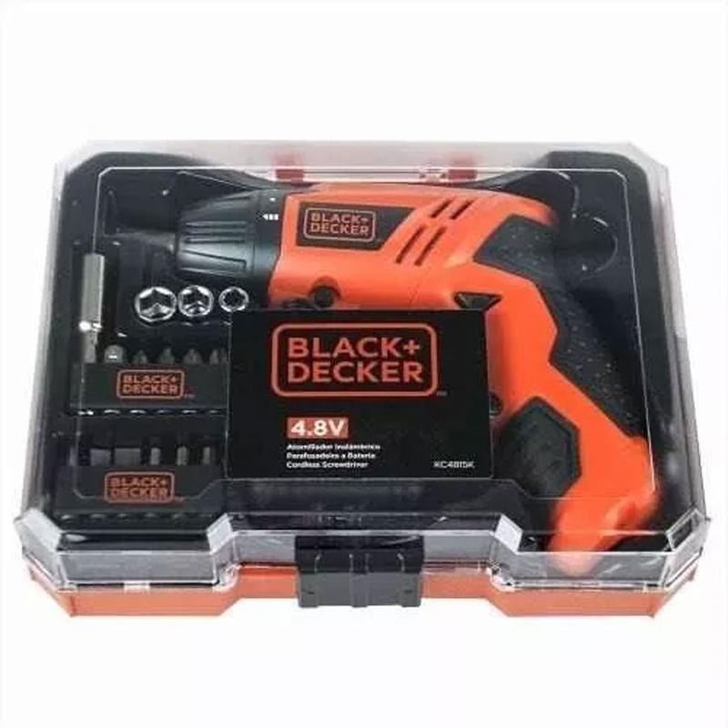 Parafusadeira à bateria 4,8V + 16 Acessórios - KC4815K - Black+Decker
