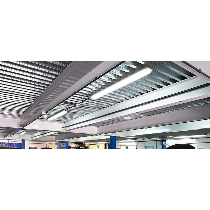 Plafon De Aplicar Estanco Con Dos Tubos 18w 1260x115 Ip65