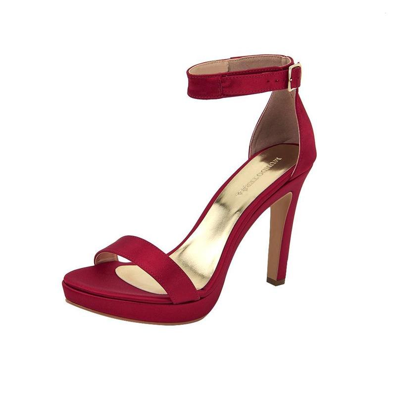 Sandalia De Tacón Rojo 020164