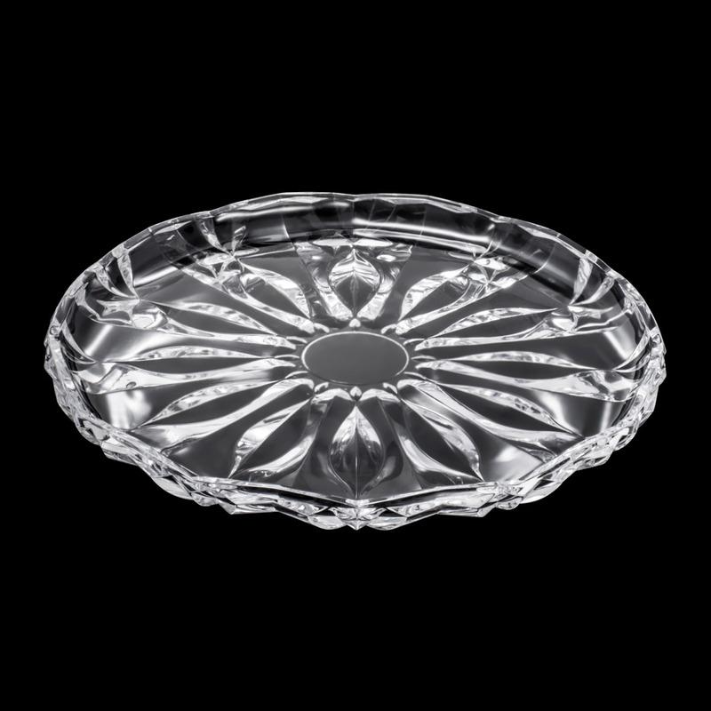 Prato Para Bolo De Cristal Blossom 31X31X2,8Cm - Vidro 3105341