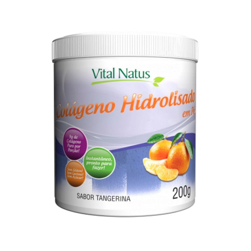 Colageno Hidrolisado em Po (Tangerina) - 200g - Vital Natus