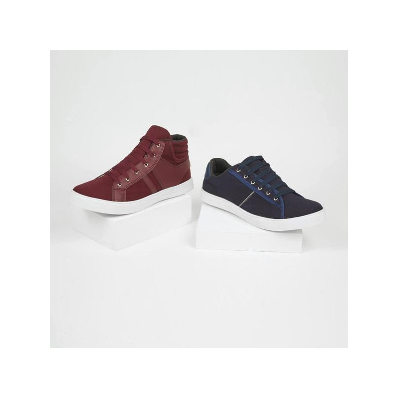 Combo sneakers azul y tinto 018747