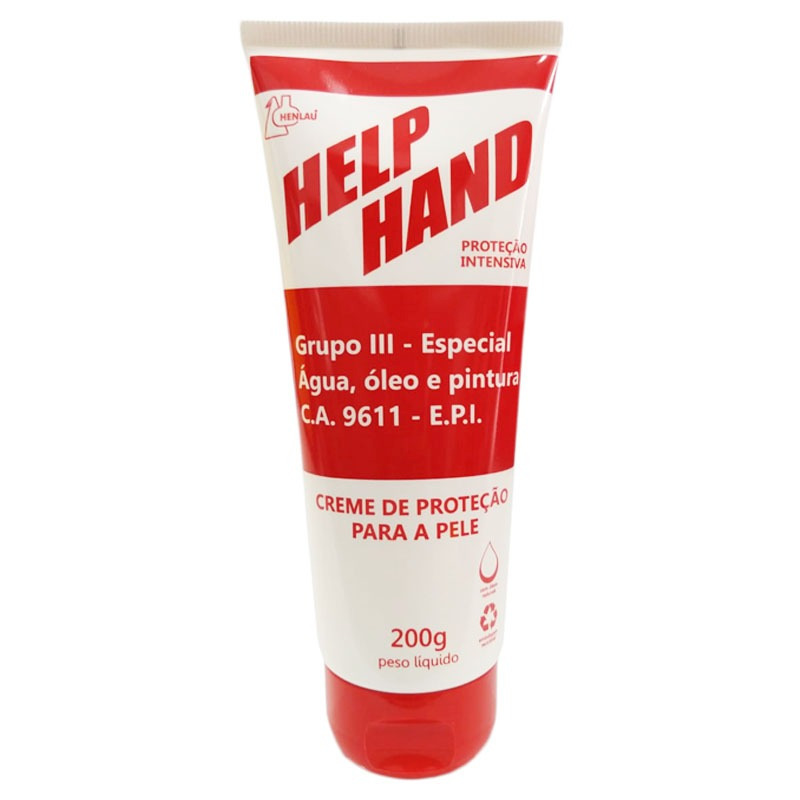 CREME  DE PROTEÇÃO PARA AS MÃOS HELP HAND GRUPO 3 200G