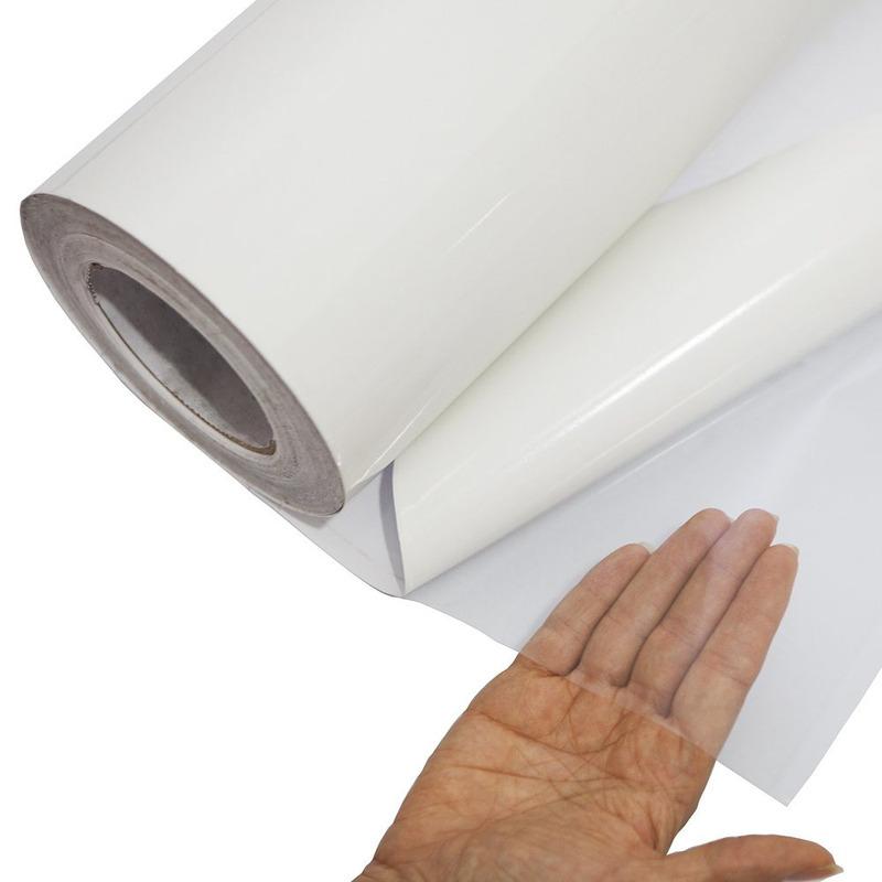 Vinil Adesivo para impressão DIGIMAX transparente BRILHO 0.10 Larg. 1,40 m