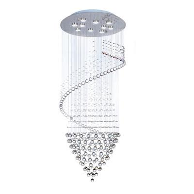 Colgante 10 Luces Trompo Platino Led Gu10 Deco Moderno Mg