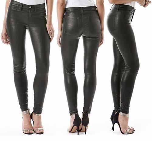 Venta En Pantalón Cuero Calza Mujer Alto Engomado Elastizado Tiro nwk0XNO8P