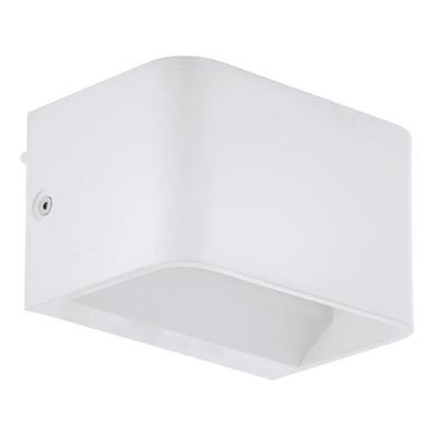 Aplique Pared Led Sania Aluminio Blanco Deco Moderno Eglo