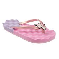 Sandalia playa rosa con correa 018772