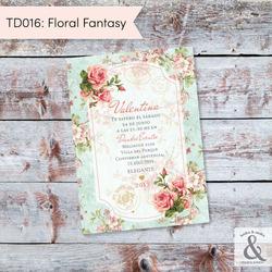 Invitación digital TD016 (Flor...