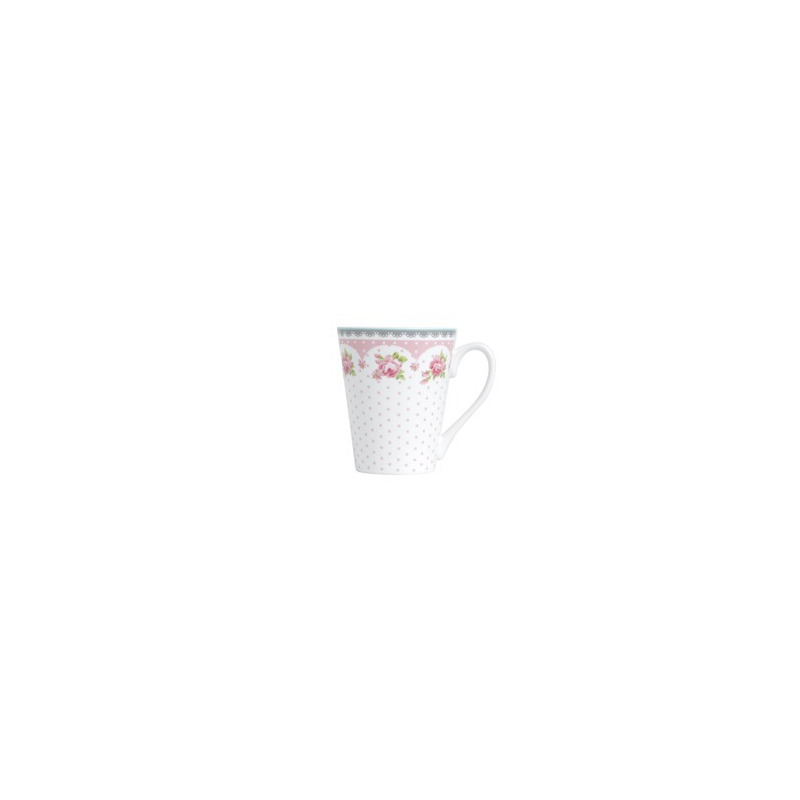 Caneca Rose Slim de Porcelana New Bone 340ml - Lyor 4102168