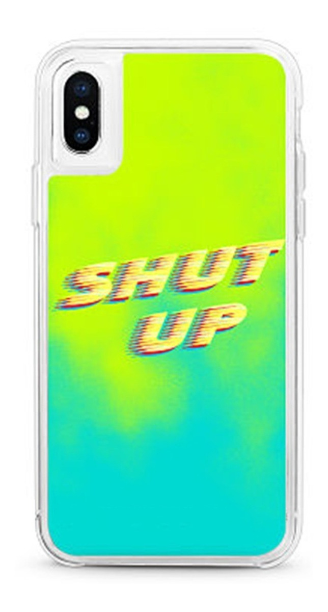 FUNDA NEON GLITTER IPHONE XS MAX SHUT UP