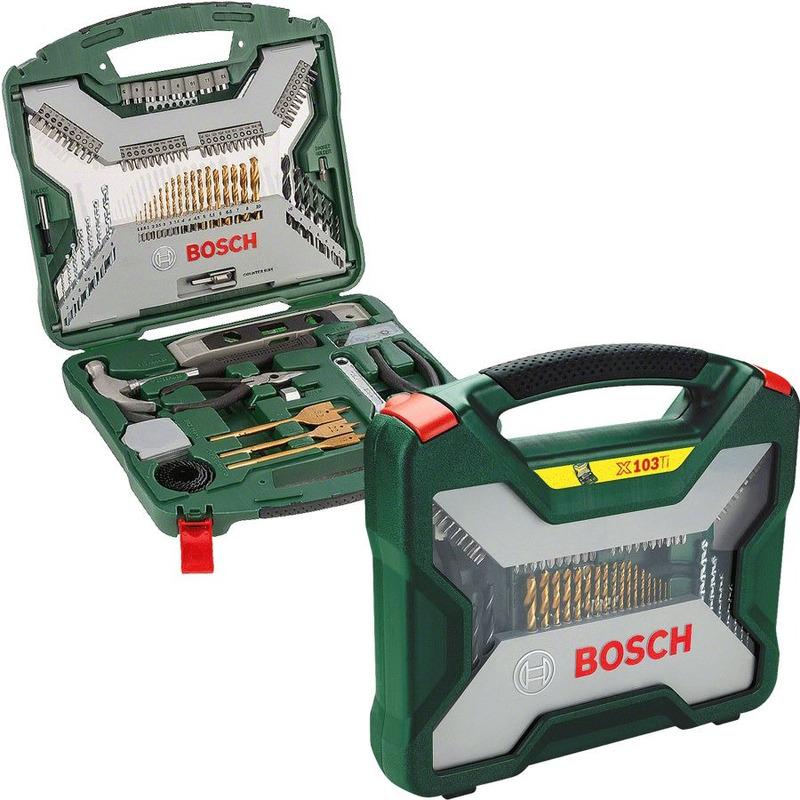 Kit Titanium de Ferramentas e Acessórios 103 Peças X-Line - 2 607 019 331 - Bosch<BR>