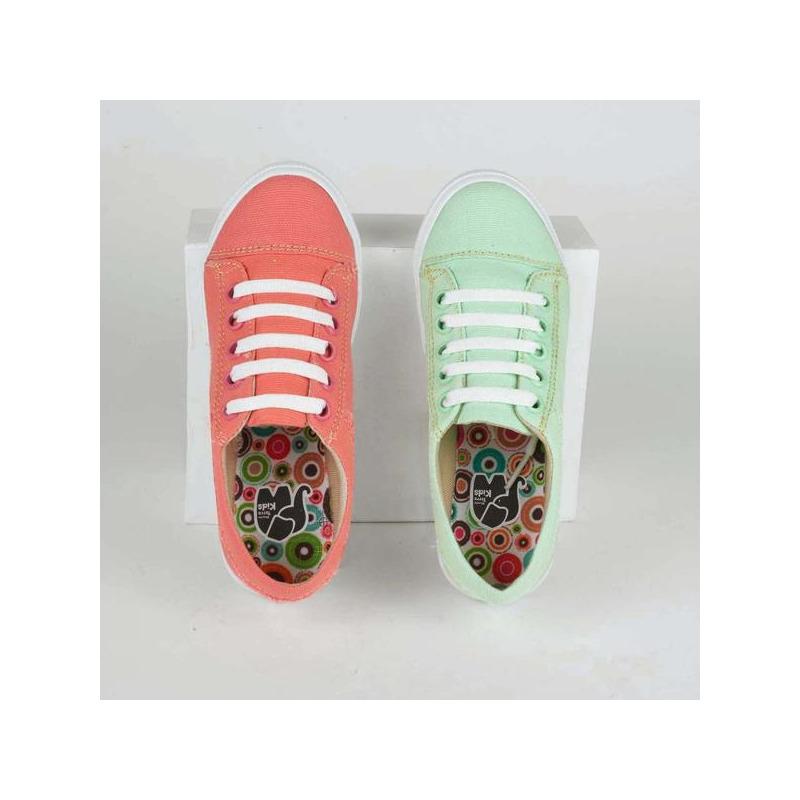 Combo sneakers verde y rosa 018624