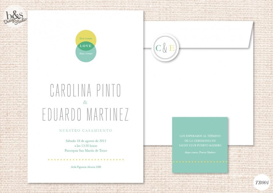 Invitación casamiento TB004