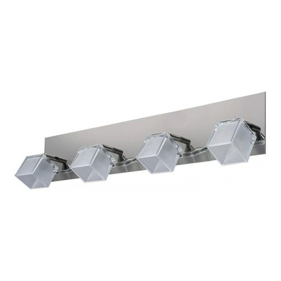 Aplique 4 Luces Cromo Moderno Con Led Acero Inoxidable