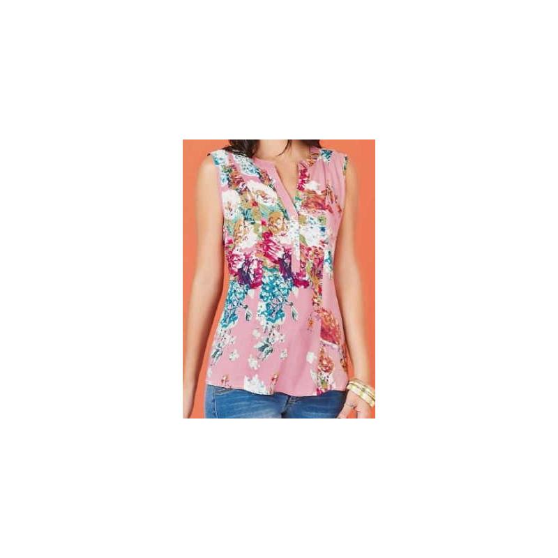 Blusa estampada rosa 015192