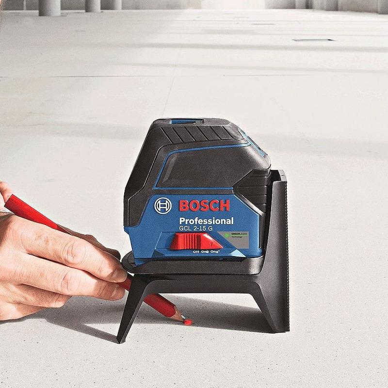 Nível a Laser VERDE 4x MAIS VISIVEL Linhas em Cruz 15 Metros GCL2-15 G - 0 601 066 J00 - Bosch