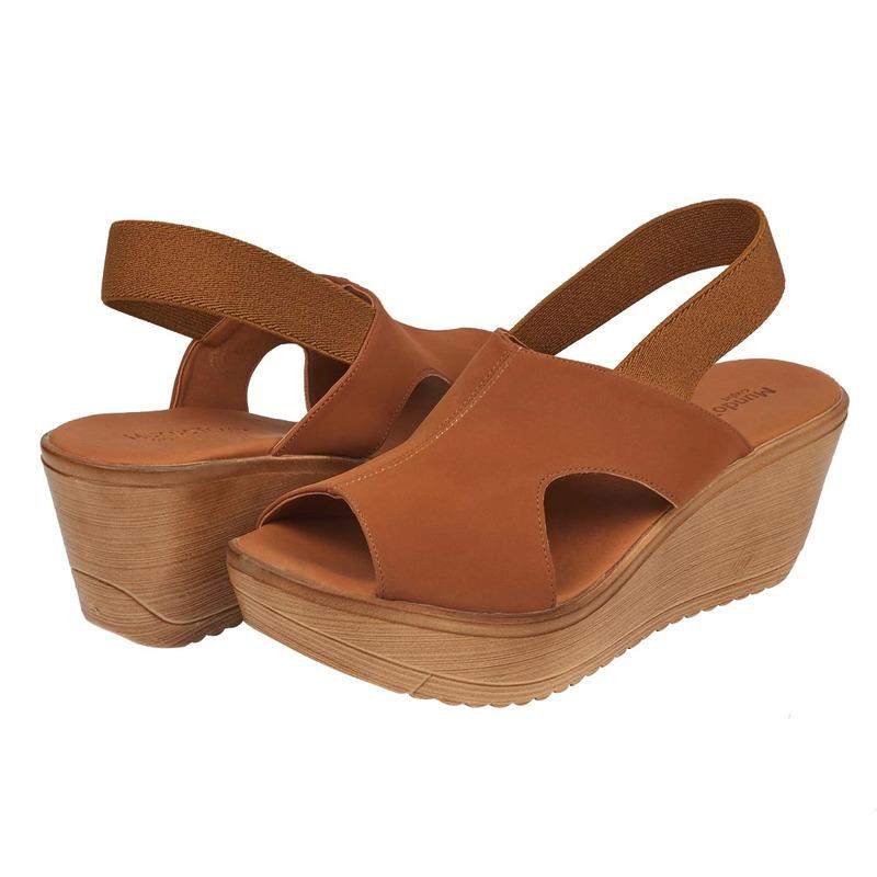 Combo sandalias plataforma café y negro 016609